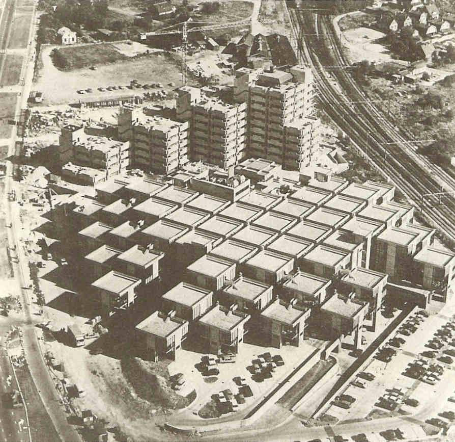 Central Beheer ofisų pastatas iš aukštai